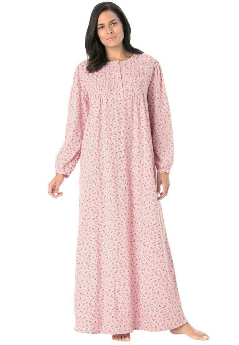 100/% COTTON ALL-OVER EMBROIDERED NIGHTDRESS PLUS SIZES 28-30 30-32 /& 32-34