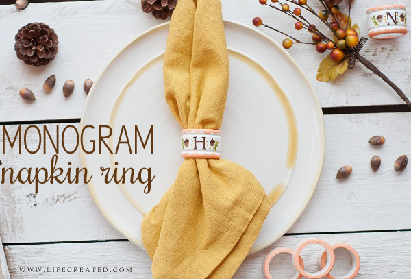 monogram napkin ring tutorial #fall #table