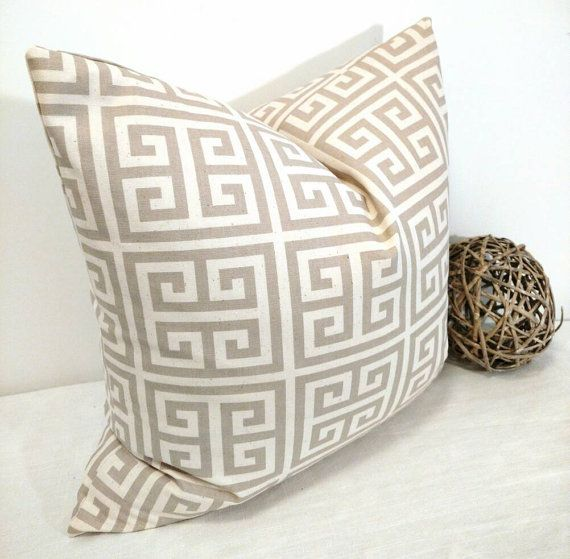 Geometric Beige Decorative Pillows | Etsy