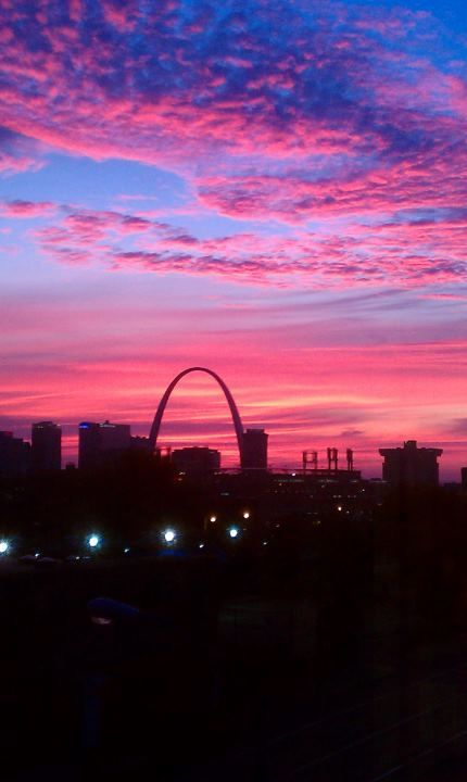 Sunset over St. Louis