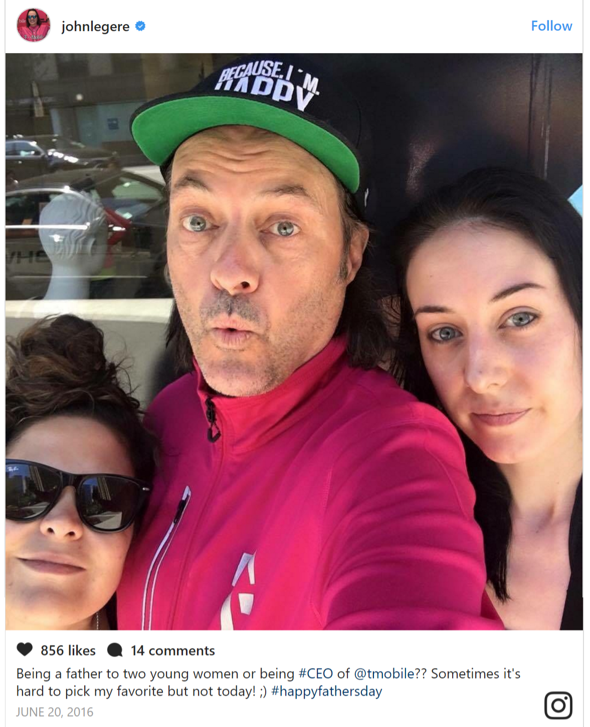 Meet T-Mobile CEO John Legere's daughters  Is he still