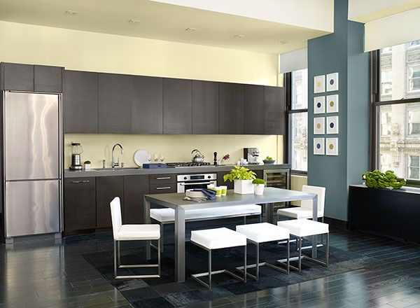 benjamin moore green kitchen a bright and modern kitchen color scheme benjamin 4418