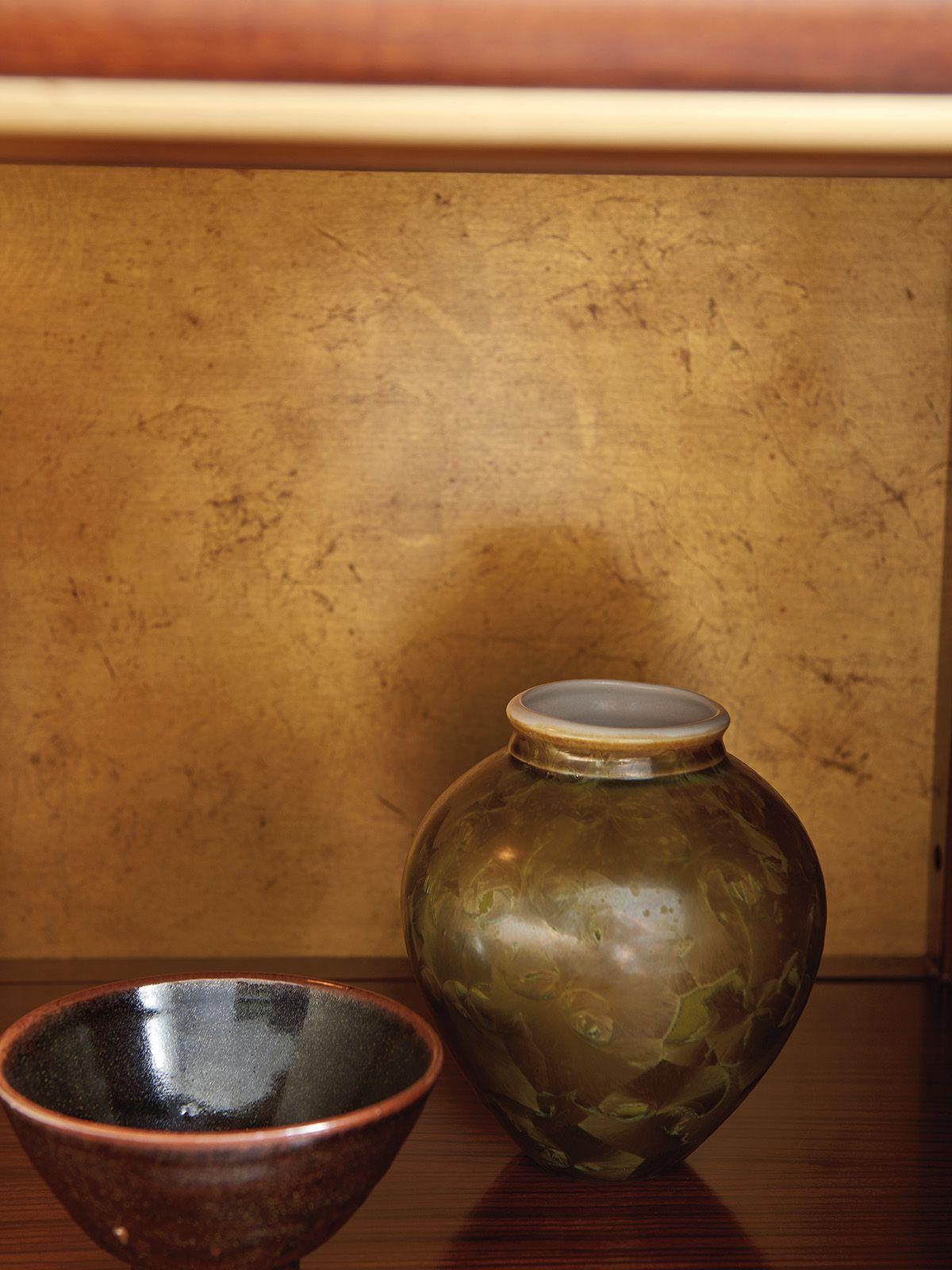 Gold Leaf Nightstand from Lexington Furniture #LHBDesign #GoldLeaf