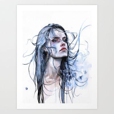 O B S T I N A T E  I M P A S S E // A G N E S - C E C I L E   #illustration #art #artwork #drawing #portrait