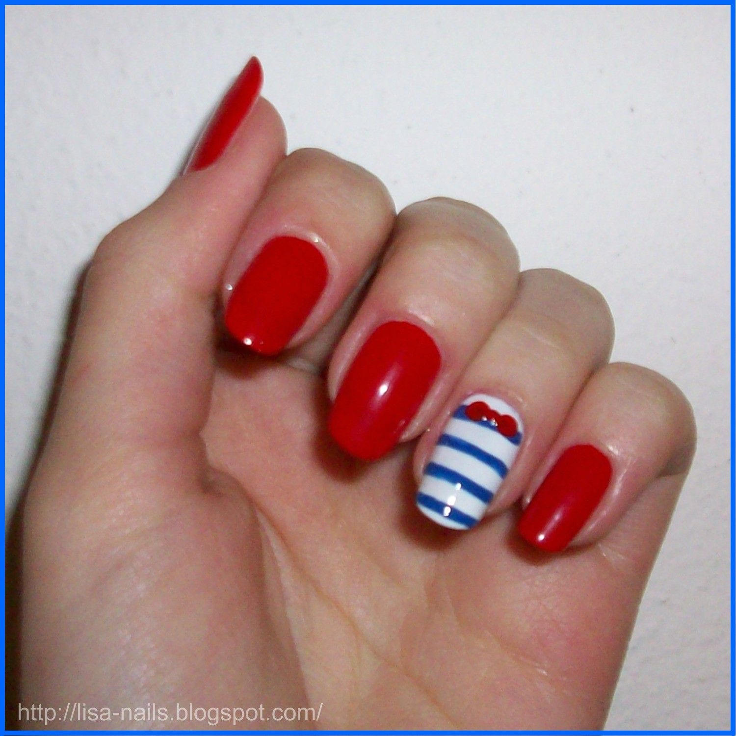 Nautical Nail Designs Very Cute And Quick Marine Nails Pedis