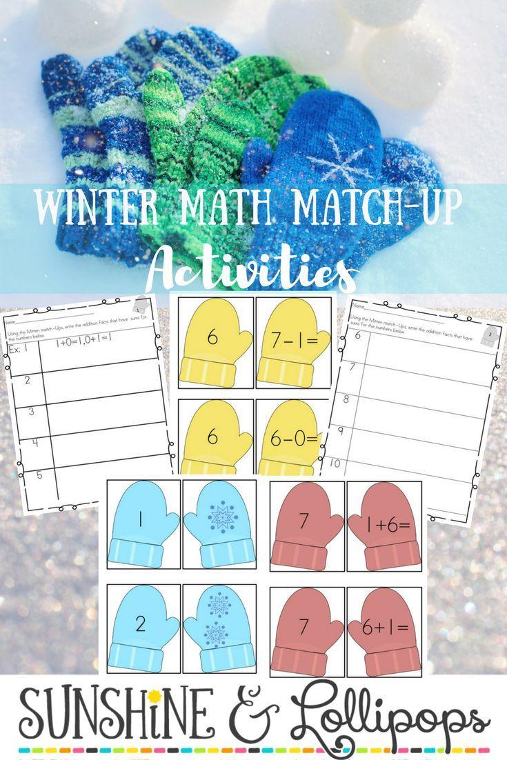 Winter Activities Number Sense Easy Computation Add & Subtract ...