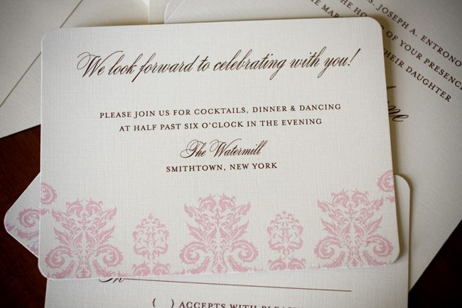 Photo via | Wedding reception invitations and Reception invitations