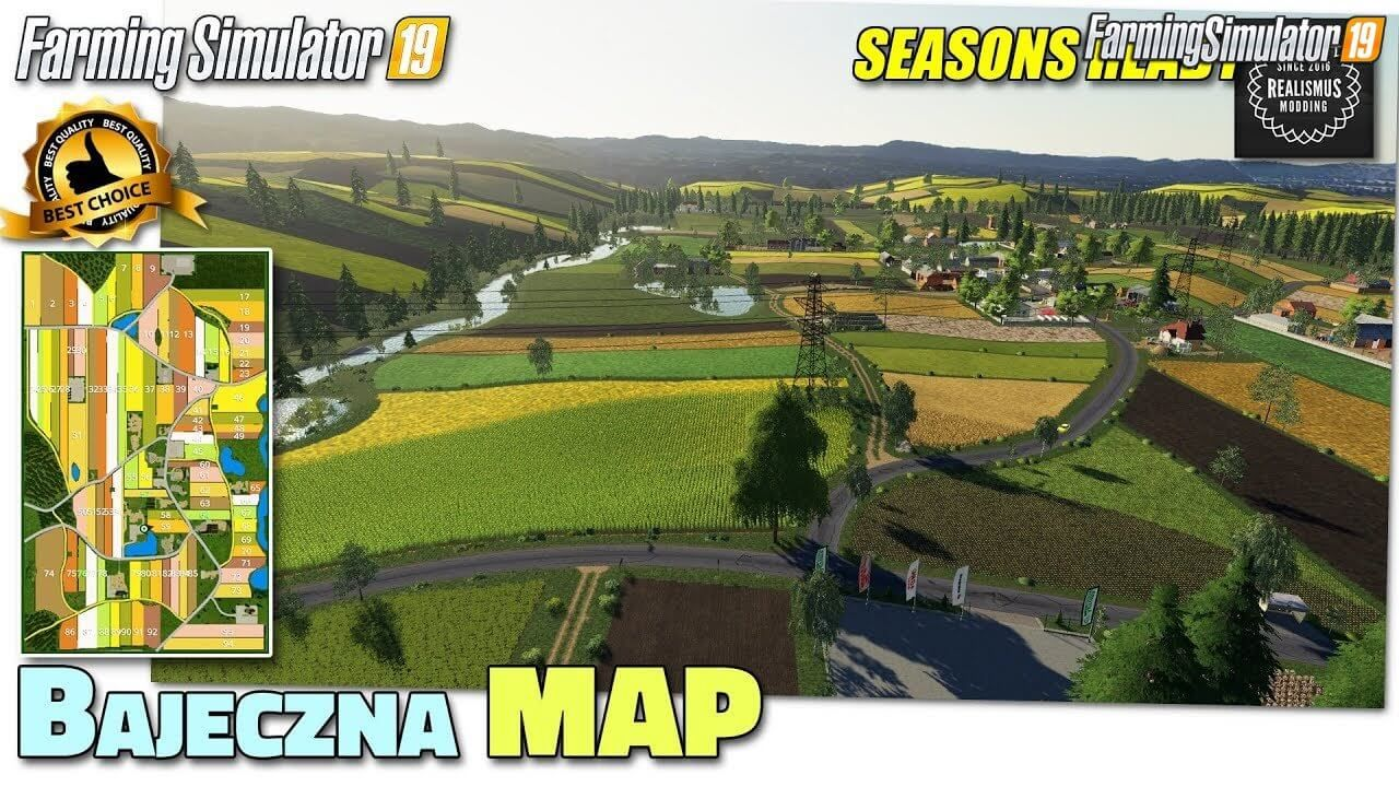 BAJECZNA Map v1.0 for FS19 in 2020 (With images)