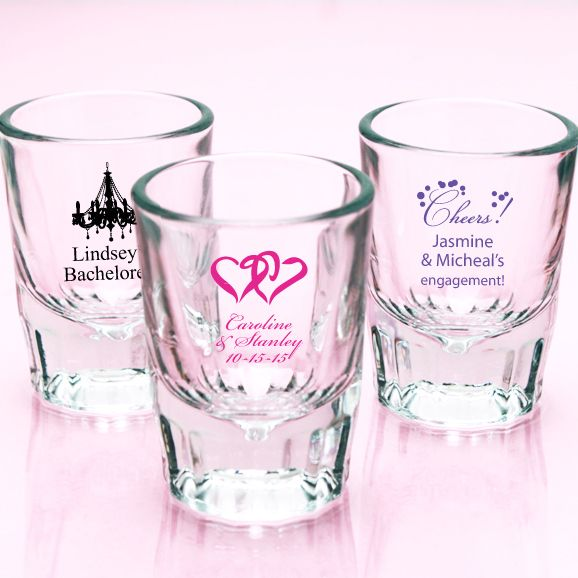 Personalized Barcraft Shot Gles Exclusive Affordable Wedding Favourswedding