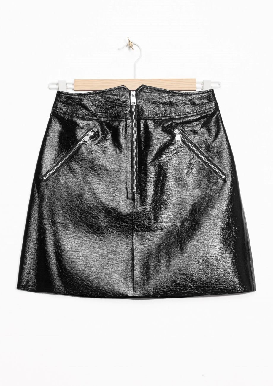 98f1bcb1ac White Patent Leather Mini Skirt