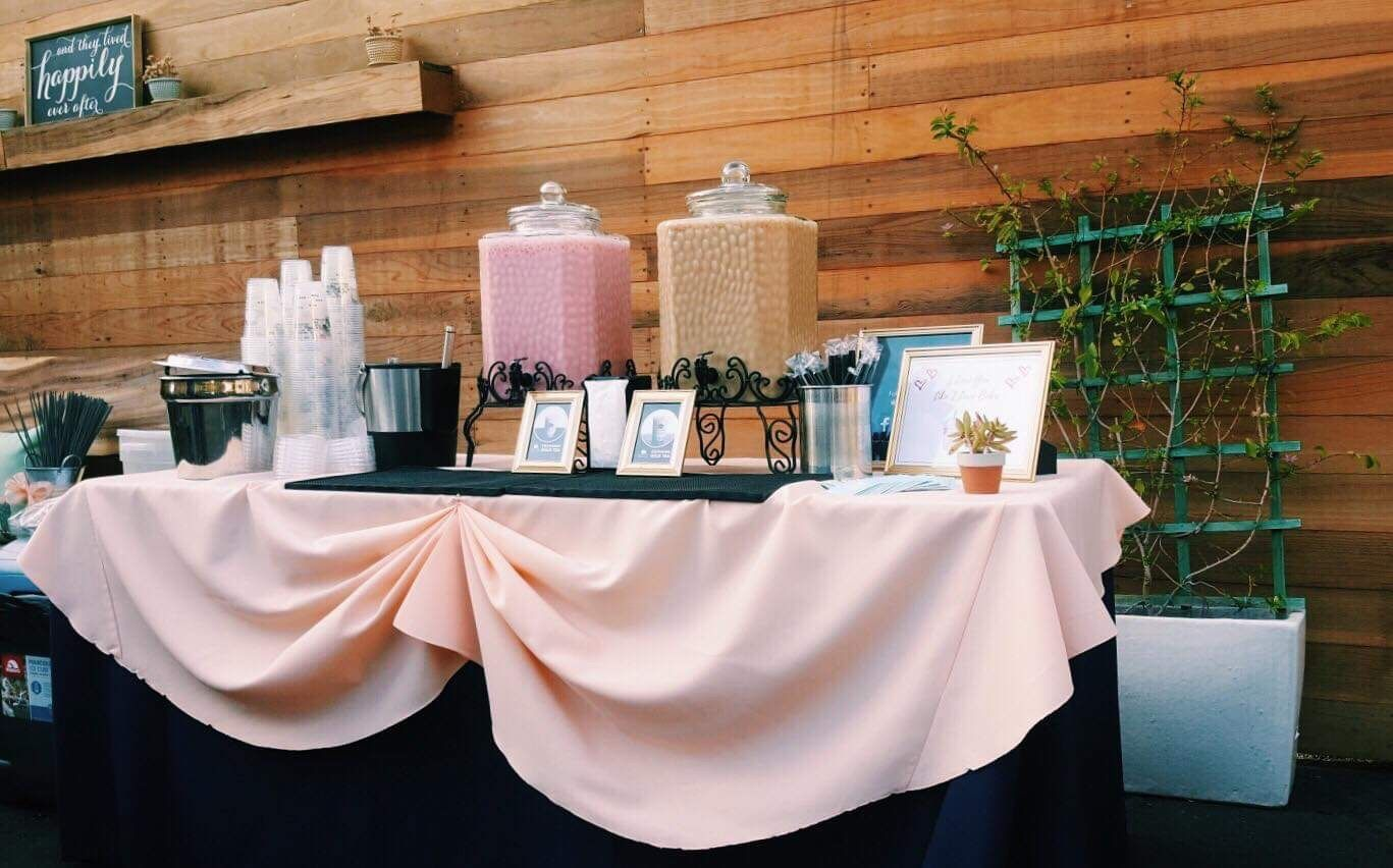 Check out this wedding set up that we catered