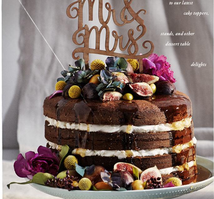 Introducing the naked cake: New wedding dessert trend