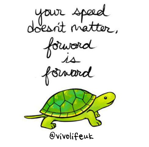 We should never allow ourselves to be discouraged or disheartened when we see others making progress faster than we do. Keep moving forward (no matter how slow it may feel!) and you will get there in the end. Strive to wake up better than you were yesterday, not better than everyone else is today! www.vivolife.co.uk