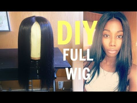 tutorial how to make a full lace closure wig beginner