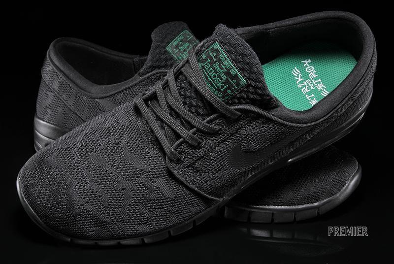Darmowa dostawa nowa wysoka jakość na wyprzedaży Nike SB Stefan Janoski Max Black Pine Green Hitting ...