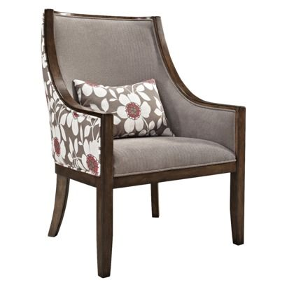 I Like The Idea Of Two Fabrics But Not The Actual Fabric Shown Here Upholstered Chairs Accent Chair Bedroom Chair