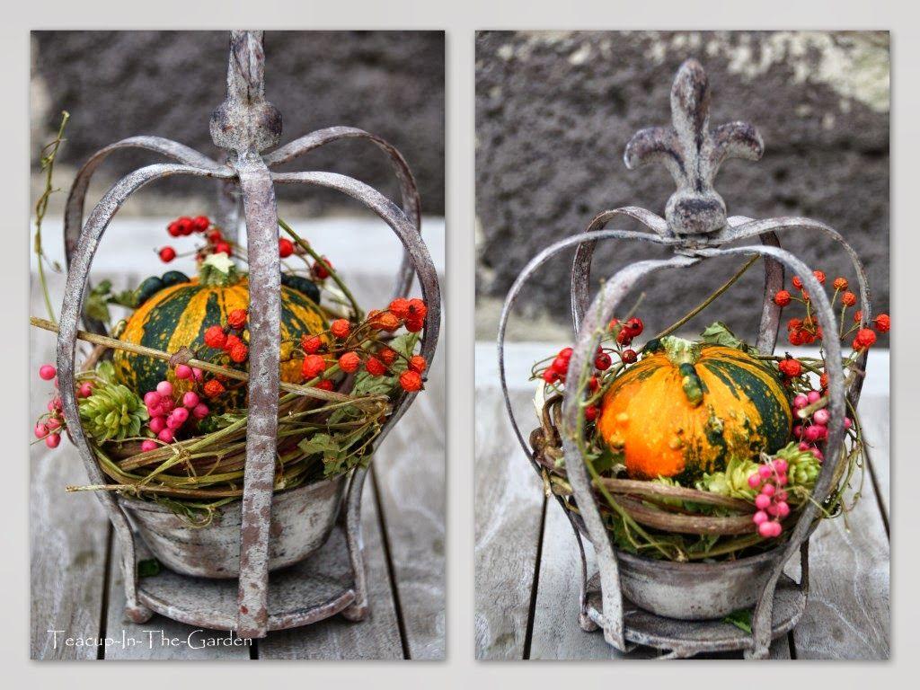 Gestern habe ich die erste richtige Herbst-Deko für dieses Jahr besorgt.   Ich wollte schon ewig so eine Krone haben...      Leider gab'... #dekoherbst