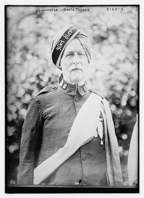 Frederick Booth-Tucker (1853-1929), born in India to English parents, was an officer of the Salvation Army and son-in-law of the Salvation Army's founder, William Booth.