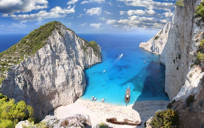Navagio Beach 5k Sea Summer Shipwreck Zakynthos Greece