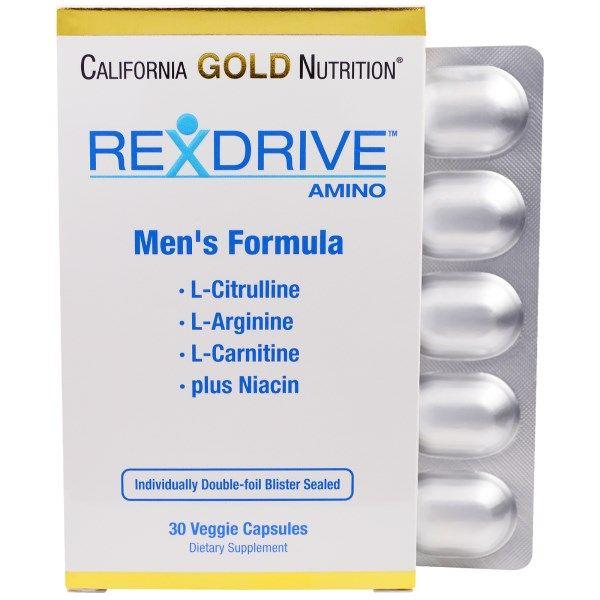 California Gold Nutrition Rexdrive Amino Men S Formula 30 Veggie Caps Discontinued Item Tovary Dlya Zdorovya Kapsula Muzhchiny