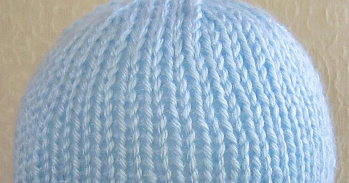 Fast And Easy Newborn Hat Knit Pattern With 4 Ply Worsted Weight