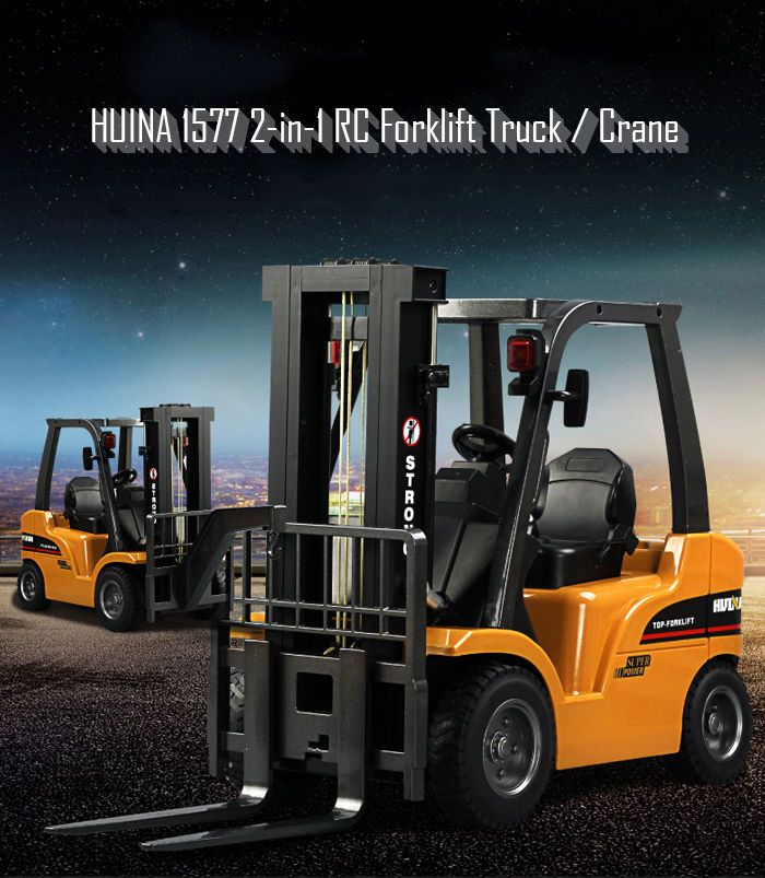 Huina 1577 2 In 1 Rc Car Forklift Truck Crane Rtr 2 4ghz 8ch 360