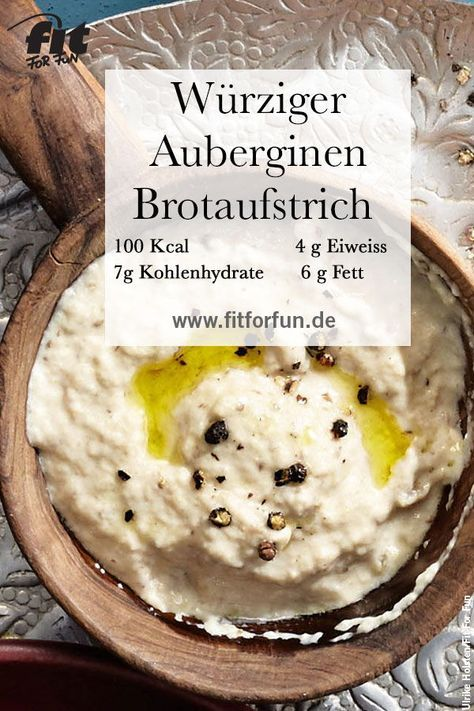 Auberginen-Creme Rezept - FIT FOR FUN
