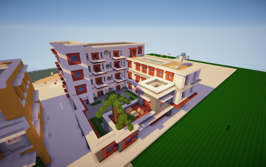 Apartment Building, A Minecraft Creation.
