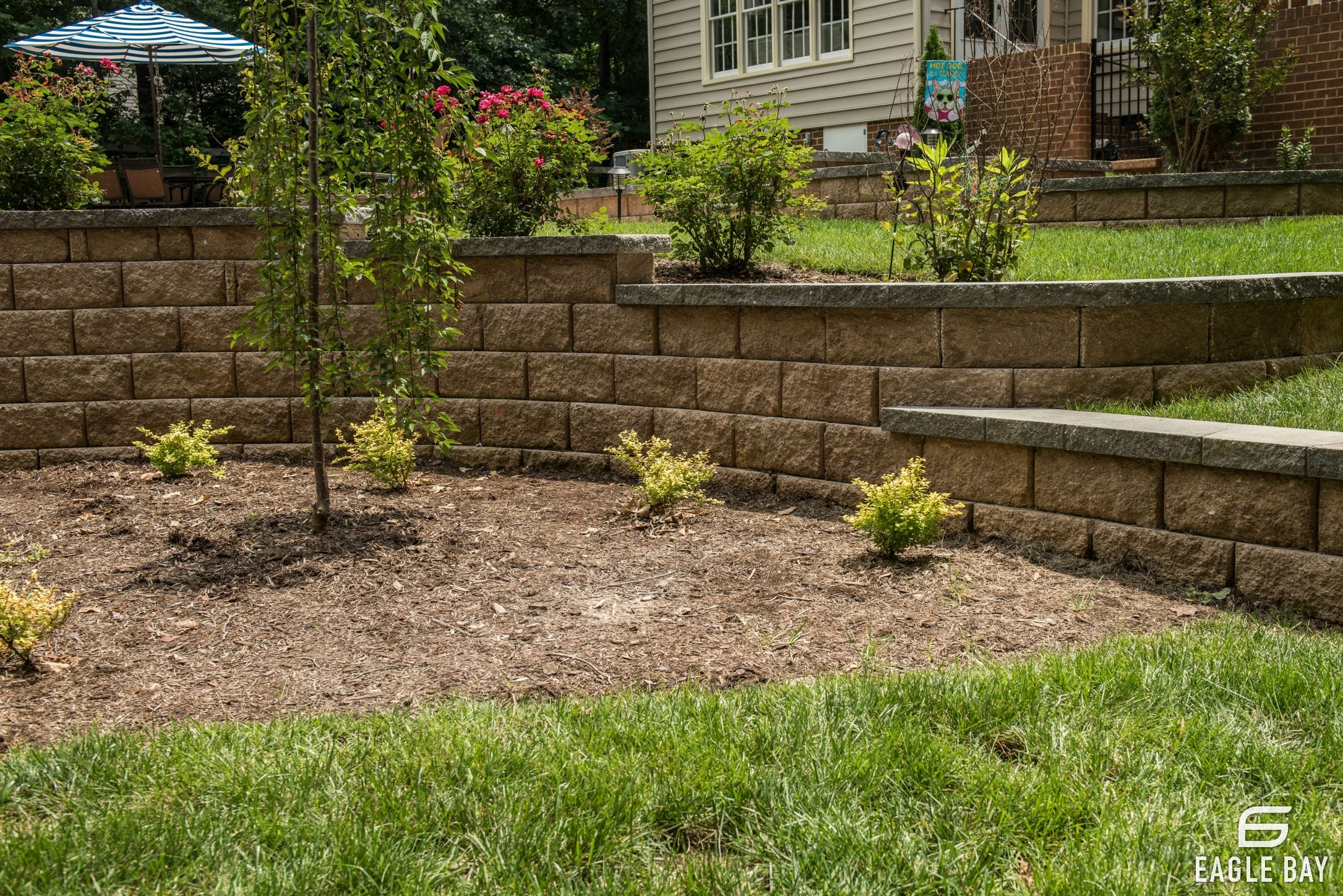 Holding Back Soil Holding Up To Your Expectations Concrete Paver Patio Hardscape Paver Patio