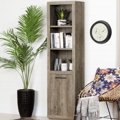 """South Shore Kanji 71"""" Standard Bookcase with Door"""