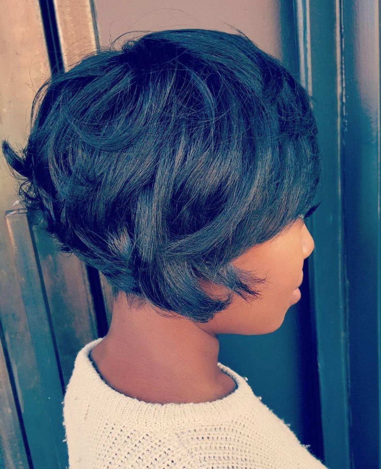 60 Great Short Hairstyles For Black Women Choppy Bob Hairstyles Short Hair Styles Short Bob Hairstyles