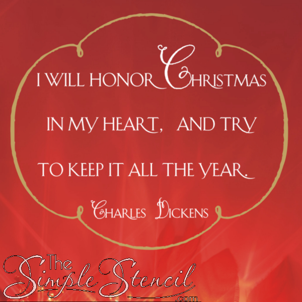 Superieur A Favorite Christmas Wall Quote By Charles Dickens Spoken By The Character  Ebenezer Scrooge In The