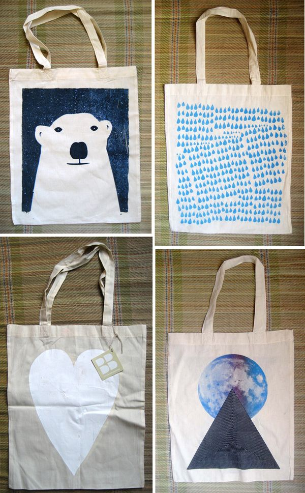 Screen Printed Totes Thinking About