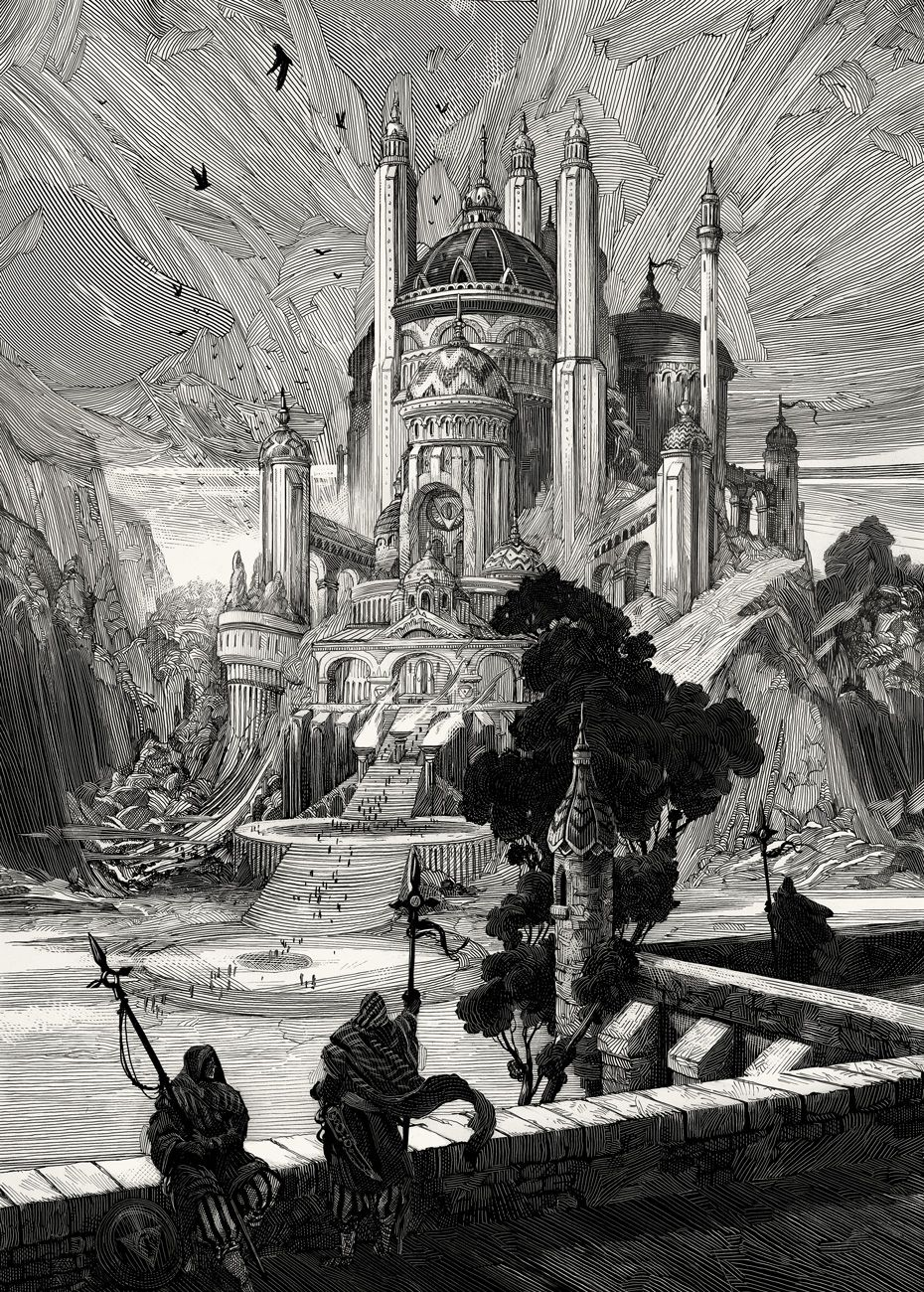 Illustrations for The Book of Tyrael ©Blizzard Ent.Just realized I never posted these here!Four (of the seven) illustrations I did for the B...