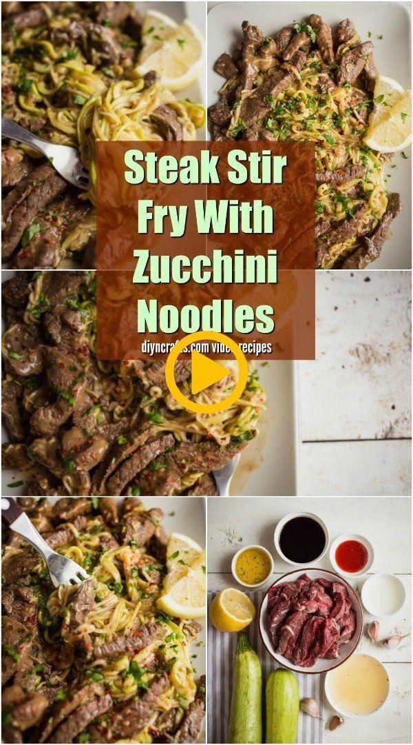 Steak Stir Fry With Zucchini Noodles - Tender and juicy steak stir fry with zucc... Steak Stir Fry With Zucchini Noodles - Tender and juicy steak stir fry with zucc...