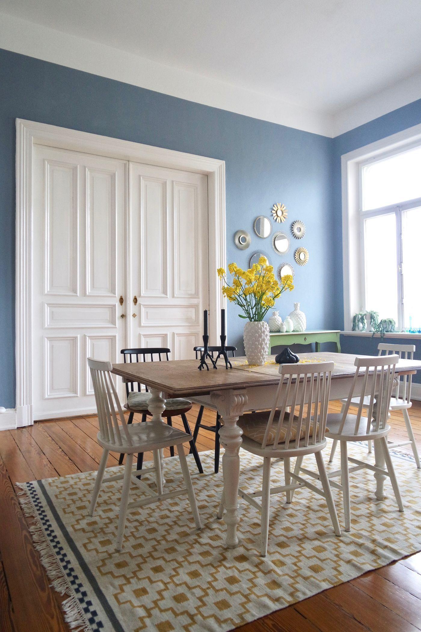 Deko Hellblau Wohnzimmer  Esszimmerstühle, Altbau wohnzimmer