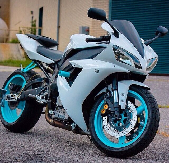 Baby Blue Sweet Automobiles Motorcycle Blue