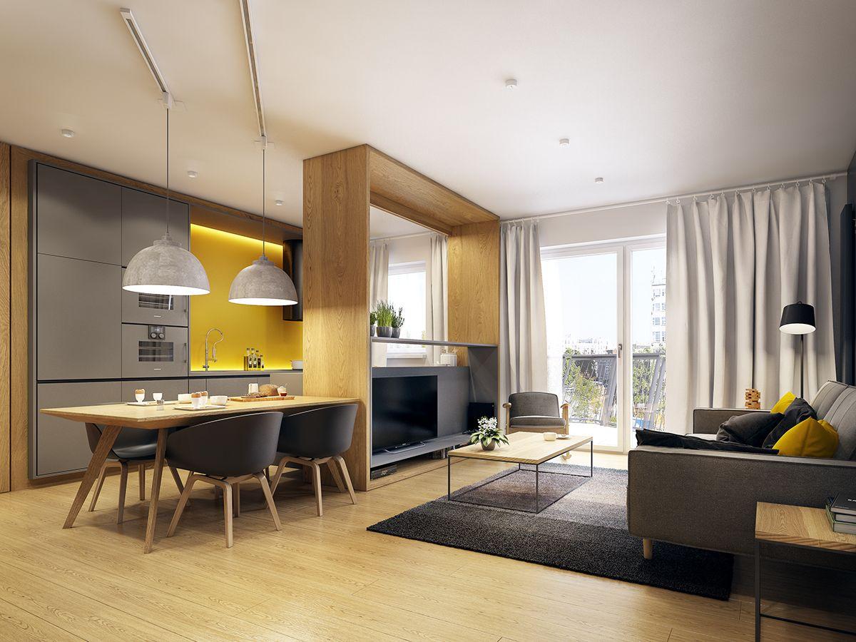 Moderne Zwei Zimmer Wohnung | Interiors, Kitchens and Flats
