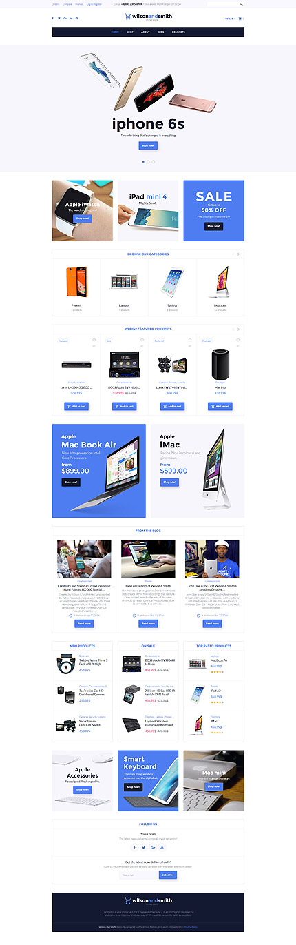 Computers, Devices  Wearables Online Store #WooCommerce #template