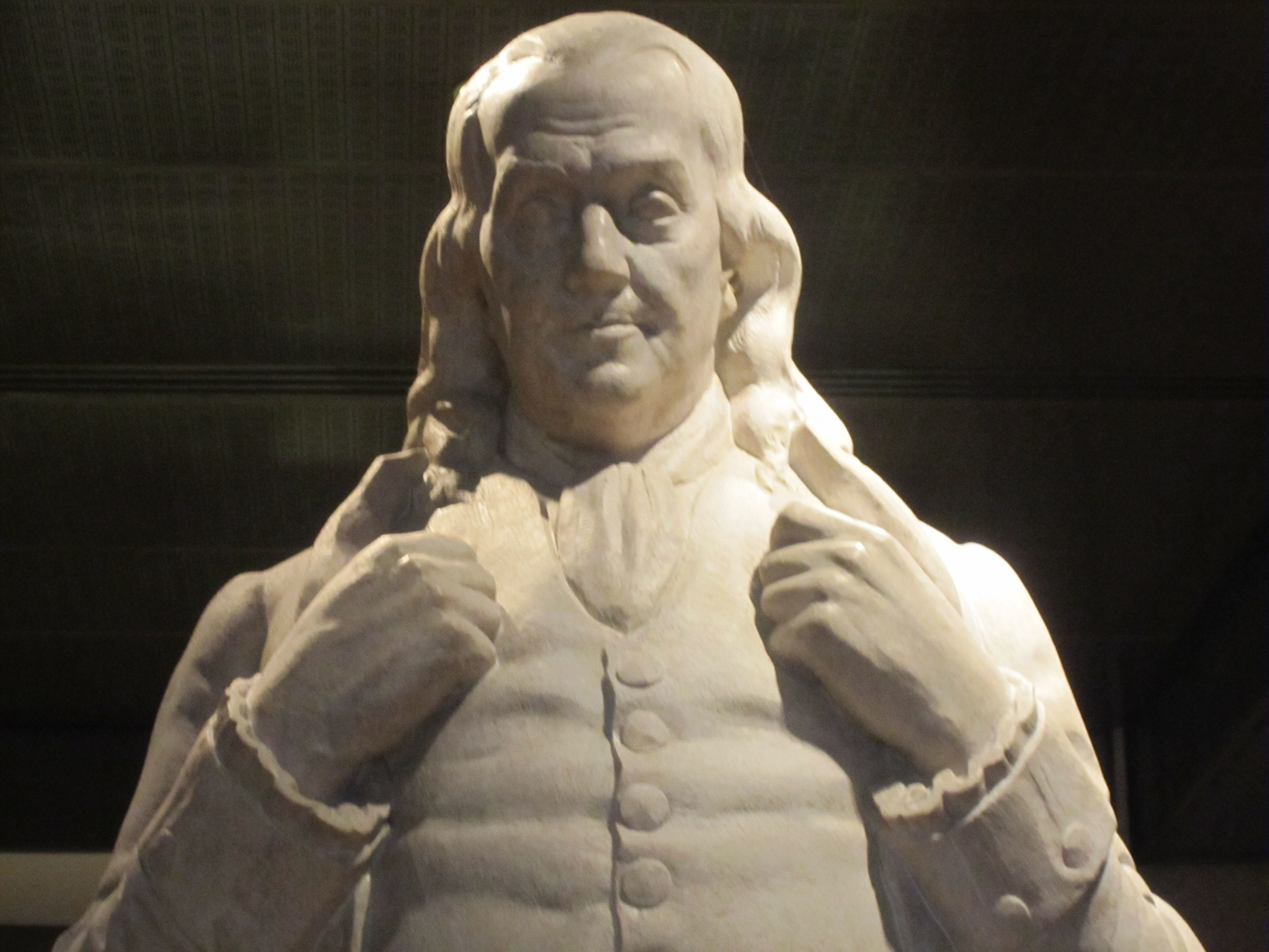 File Benjamin Franklin Statue At National Portrait Gallery