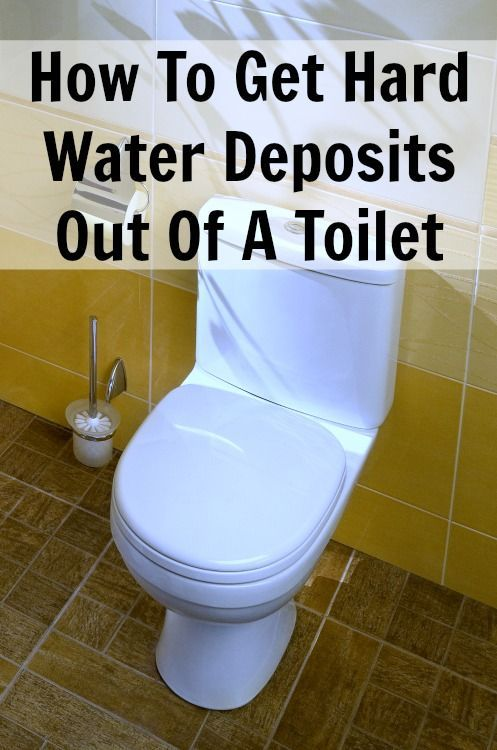 Hard water deposits in a toilet bowl can be difficult to remove ...