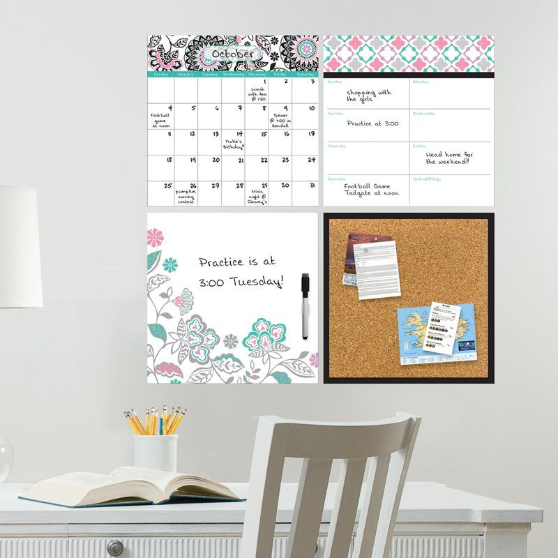 Wall Pops Floral Medley Organizer Kit Wall Decals Wpe0755 Wall