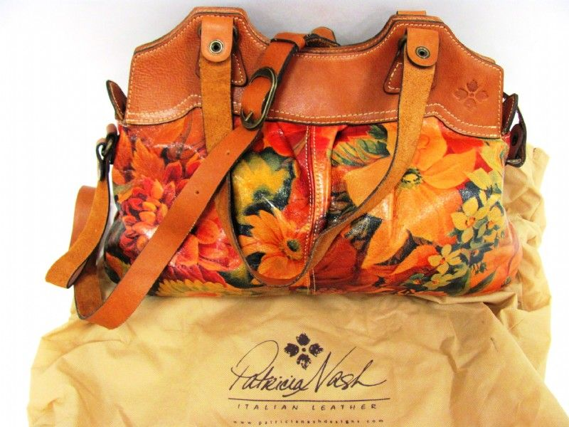 6ec3261be4c7 Patricia Nash Floral Tan Leather Napoli Purse | Purses | Leather ...
