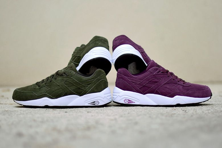 énorme réduction af8d5 86f98 Puma R698 Allover Suede - Plum & Forest - Sneakers.fr ...