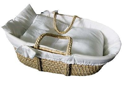 moseskorb babykorb tragekorb stubenbett babynest mit w scheset basket kids stuff pinterest. Black Bedroom Furniture Sets. Home Design Ideas