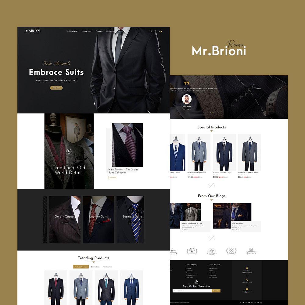 Brioni Suit Tailoring Prestashop Responsive Theme Templatetrip Responsive Theme Tailored Suits Brioni