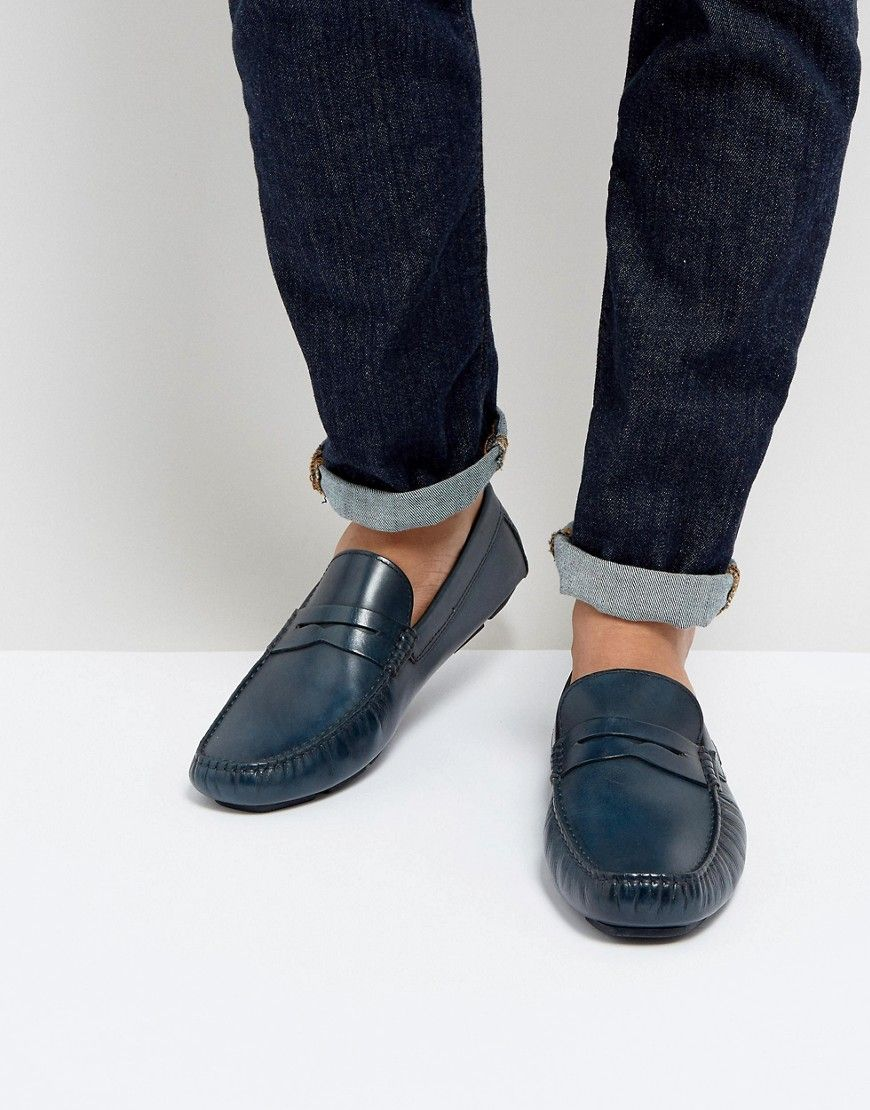 5048b4c3a7f1f TOMMY HILFIGER LEATHER LOAFERS - BLUE.  tommyhilfiger  shoes ...