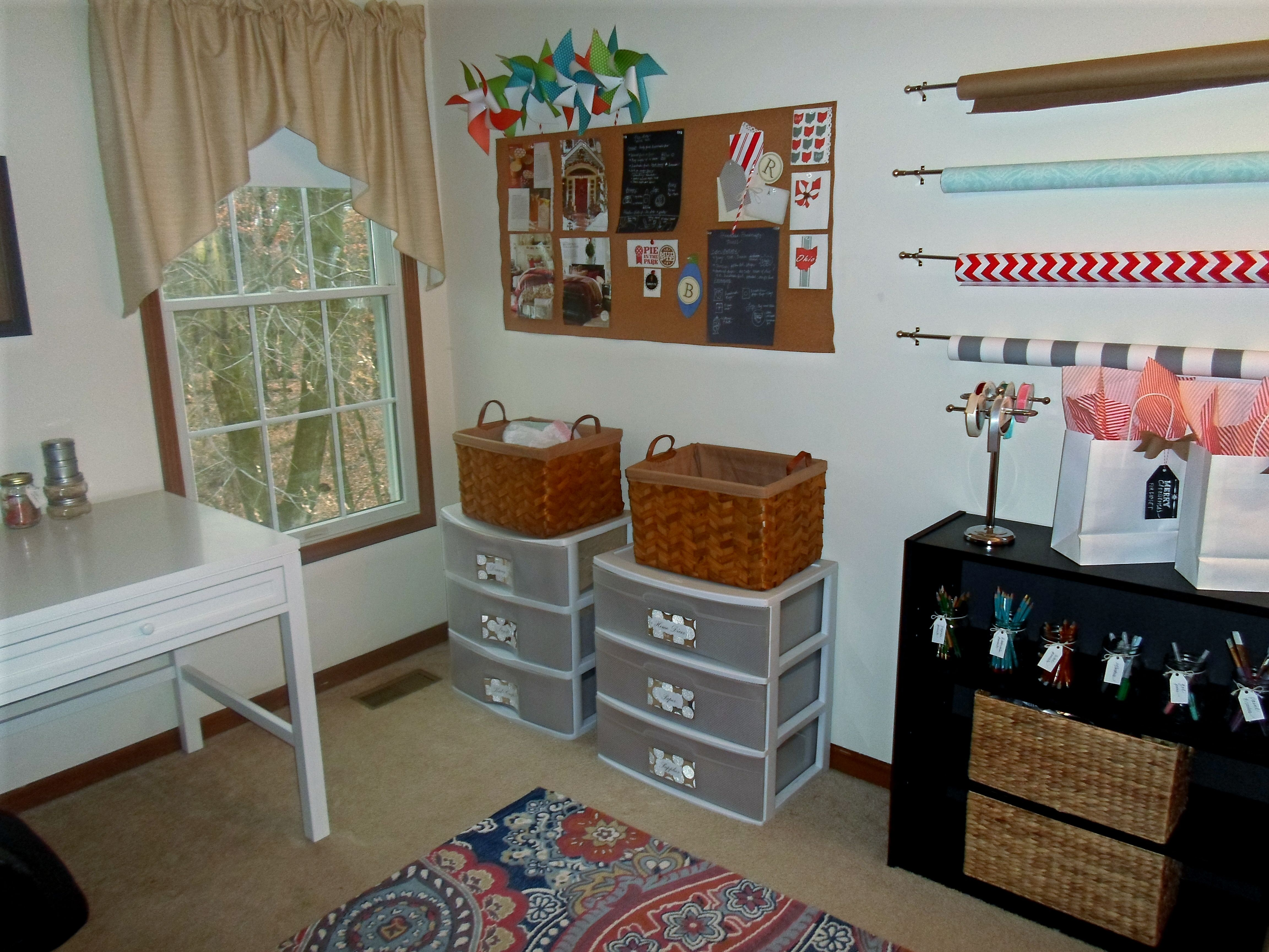 Diy craft room on a budgetgift wrapping station made