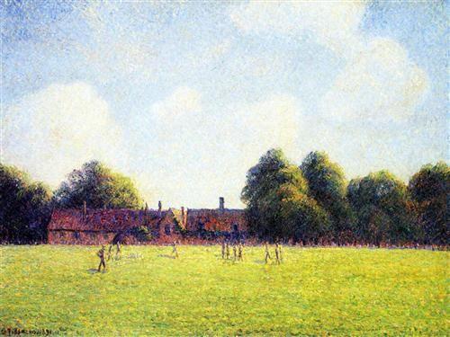 Hampton Court Green, London - Camille Pissarro
