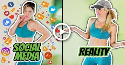 TRUTH ABOUT FITNESS: Social Media VS Reality #motivation #fitness #fitnessreality